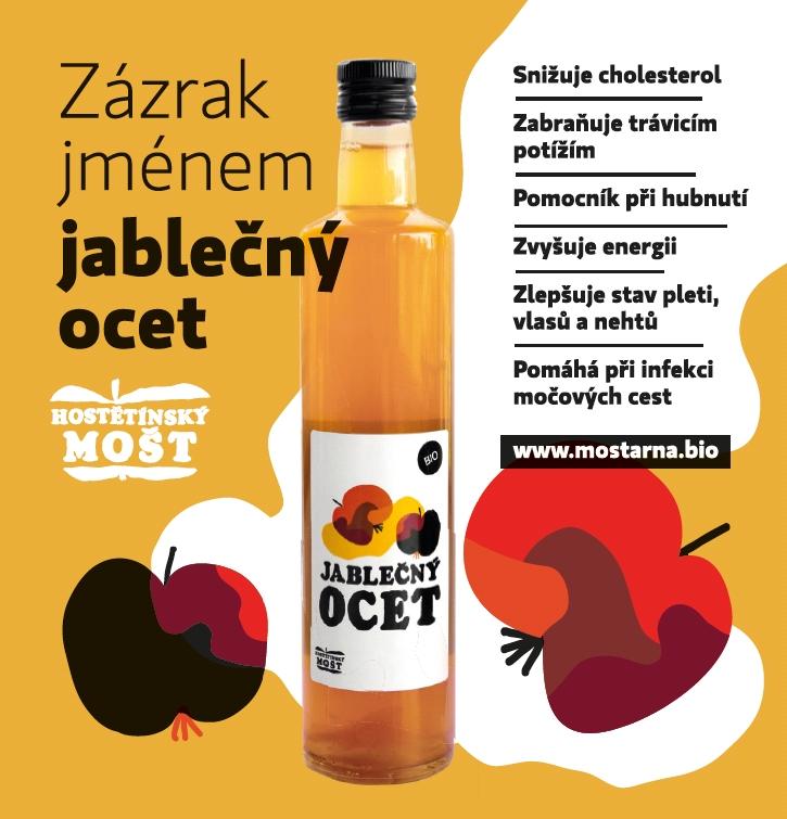 Hostětínský jablečný ocet BIO 0,5l